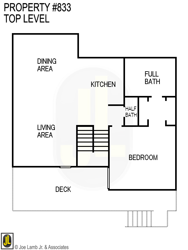 Floorplan: 833 Top Level