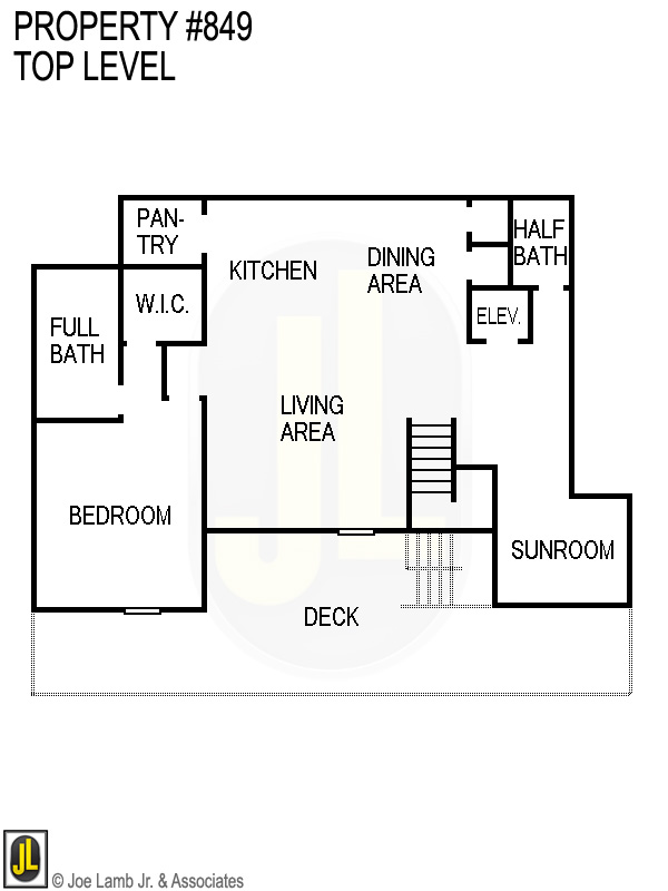 Floorplan: 849 Top Level