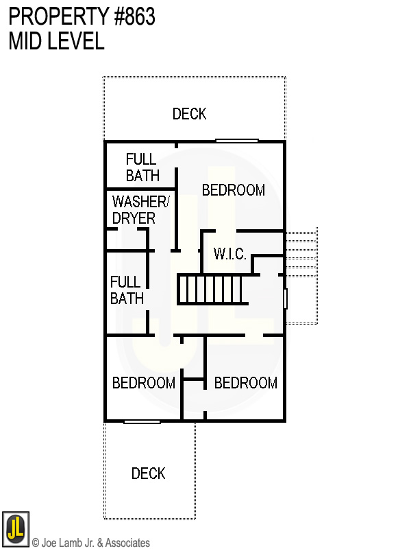 Floorplan: 863 Mid Level