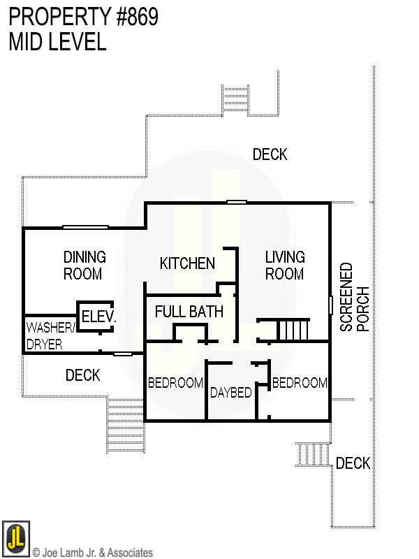 Floorplan: 869 Mid Level