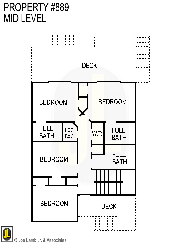 Floorplan: 889 Mid Level