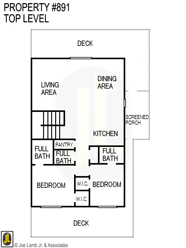Floorplan: 891 Top Level