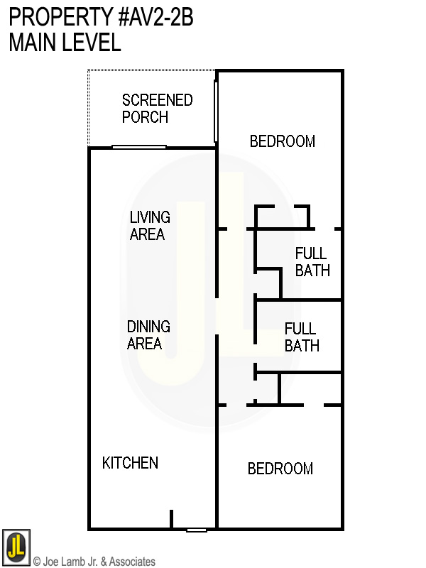 Floorplan: Av2-2b Main Level